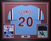 Mike Schmidt Autographed 80 NL WS MVP & Framed Phillies Jersey Fanatics  COA