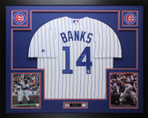 Ernie Banks Autographed and Framed Pinstriped Cubs Jersey Auto Tristar COA D5-L