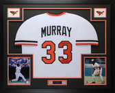 "Eddie Murray Autographed ""HOF 2003"" & Framed Orioles Jersey Auto Beckett COA"