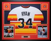 Nolan Ryan Autographed & Framed Astros Jersey Auto Nolan Ryan Holo COA (D3-L)