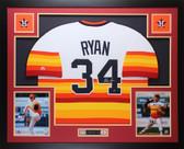 Nolan Ryan Autographed and Framed Rainbow Astros Jersey Auto MLB COA (D4-L)