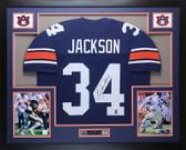 Bo Jackson Autographed & Framed Navy Auburn Jersey Auto JSA COA (D1-L)
