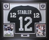 Ken Stabler Autographed and Framed Black Raiders Jersey Auto Radtke COA (D1-L)