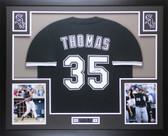 Frank Thomas Autographed & Framed Black White Sox Jersey Auto JSA COA (D1-L)