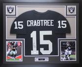 Michael Crabtree Autographed & Framed Black Raiders Jersey Auto JSA COA (D1-L)