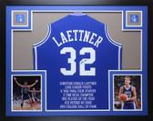 Christian Laettner Autographed & Framed Duke STAT Jersey JSA COA (D1-L)