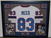 Andre Reed Autographed 7X Pro Bowl and Framed White Bills Jersey Auto JSA Certified