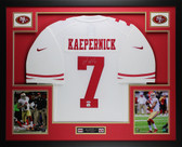 Colin Kaepernick Autographed and Framed White 49ers Nike Jersey Auto PSA Certified