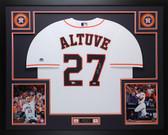 Jose Altuve Autographed & Framed White Houston Astros Jersey Fanatics COA D1-L