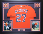 Jose Altuve Autographed & Framed Orange Houston Astros Jersey Fanatics COA D2-L