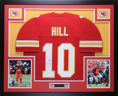 Tyreek Hill Autographed & Framed Red Kansas City Chiefs Auto JSA COA D1-L