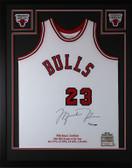 Michael Jordan Autographed & Framed Red Bulls Jersey Auto Upper Deck COA D16