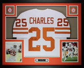 Jamaal Charles Autographed and Framed White Longhorns Jersey Auto GTSM Certified