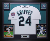 Ken Griffey Jr Autographed & Framed White Mariners Jersey Auto TRISTAR COA D4