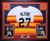Jose Altuve Autographed & Framed Rainbow Houston Astros Auto JSA COA D3-L