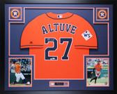 Jose Altuve Autographed & Framed Orange Houston Astros Auto Fanatics COA D4-L