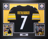 Ben Roethlisberger Autographed & Framed Black Pittsburgh Steelers Jersey Auto Fanatics COA