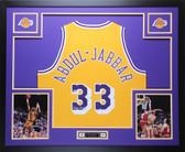 Kareem Abdul-Jabbar Autographed & Framed Gold Lakers Jersey Auto Beckett COA