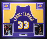 Kareem Abdul-Jabbar Autographed & Framed Purple Lakers Jersey Auto Beckett COA