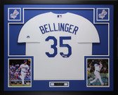 Cody Bellinger Autographed and Framed White Dodgers Jersey Auto Fanatics COA D1