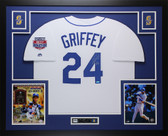 Ken Griffey Jr Autographed & Framed White Mariners Jersey Auto TRISTAR COA D5