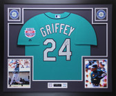 Ken Griffey Jr Autographed & Framed Teal Mariners Jersey Auto TRISTAR COA D6