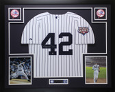 Mariano Rivera Autographed & Framed PinstripedRangers Jersey Steiner COA D1-L