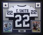 Emmitt Smith Autographed & Framed ThanksgivingRangers Jersey PSA COA D1-L