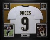 Drew Brees Autographed & Framed White New Orleans Saints Jersey JSA COA D1-L