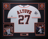 Jose Altuve Autographed & Framed White Rangers Jersey Fanatics COA D1-L