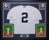Derek Jeter Autographed & Framed Yankees Pinstriped Jersey Steiner COA D16