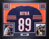 Mike Ditka Autographed and Framed Navy Bears Jersey Auto JSA COA D3-L