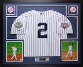 Derek Jeter Autographed & Framed Yankees Pinstriped Jersey Steiner COA D15