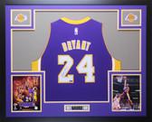 Kobe Bryant Autographed & Framed Purple Swingman Lakers #24 Jersey Auto Panini COA D15