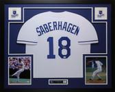 Bret Saberhagen Autographed & Framed White Royals Jersey Auto JSA COA D1-L