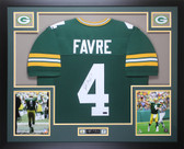 Brett Favre Autographed and Framed Green Packers Jersey Auto Favre COA D10-L