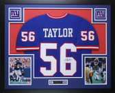 Lawrence Taylor Autographed and Framed Blue Giants Jersey Auto JSA COA D7-L