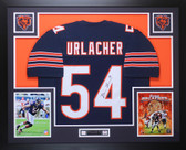 Brian Urlacher Autographed and Framed Navy Blue Bears Jersey Auto JSA COA D5-L