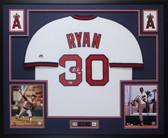 Nolan Ryan Autographed & Framed White Angels Jersey Auto Beckett COA D7-L