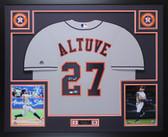 Jose Altuve Autographed & Framed Gray Houston Astros Auto Beckett COA D6-L