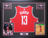 James Harden Autographed & Framed Red Houston Rockets Jersey Auto Fanatics COA D1-L