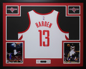 James Harden Autographed & Framed White Houston Rockets Jersey Auto Fanatics COA D2-L