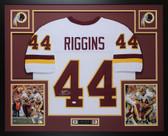 John Riggins Autographed & Framed White Redskins Jersey Auto JSA COA D8