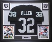 Marcus Allen Autographed & Framed Black Raiders Jersey Auto JSA COA D8-L