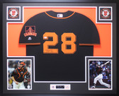 Buster Posey Autographed & Framed Black Giants Jersey Auto Beckett COA D9-L