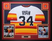 Nolan Ryan Autographed & Framed Rainbow Astros Jersey Auto Beckett COA D9-L