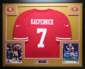 Colin Kaepernick Autographed and Framed Red 49ers Jersey Auto PSA COA