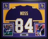 Randy Moss Autographed & Framed Purple Vikings Jersey Beckett COA D3-L