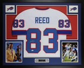 Andre Reed Autographed & Framed White Buffalo Bills Jersey JSA COA D5-L