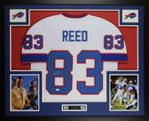 Andre Reed Autographed & Framed White Buffalo Bills Jersey JSA COA D5-L